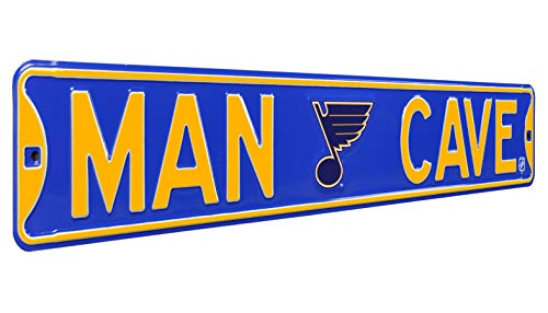 Authentic Street Signs 28146 NHL St. Louis Blues Man Cave, Heavy Duty, Metal Street Sign Wall Decor, 36