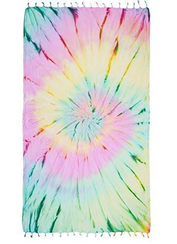 (Kikoya Tie Dye Pestemal Turkish Beach Towel, 33 Inch X 65 Inch Beach Towel Bath Pool Yoga Pilates Picnic Blanket Tapestry (Supernova))