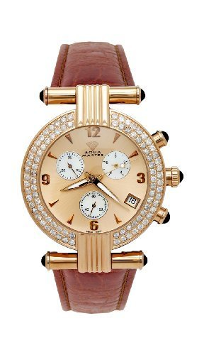 NEW! Aqua Master Men's Two-Row Big Diamond Watch, 3.25 (Two Row Diamond Watch)