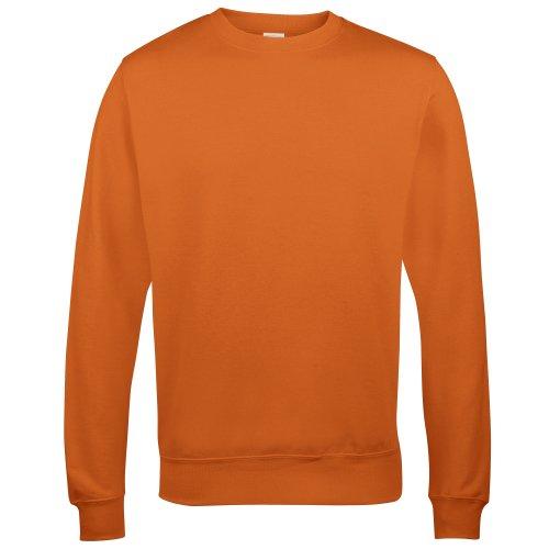 AWDis Just Hoods AWDis Unisex Crew Neck Plain Sweatshirt (280 GSM) (L) (Burnt Orange) ()
