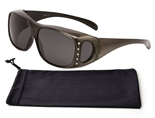 Best Black Thick Frame Smoke Wrap Around Rimmed Lens Deal Polarized Anti Glare Wear Over Prescription Glasses Active Style Running Cycling Sunglasses Clearance Items Men Teen (Black, - Prescription Best Sunglasses On Deals
