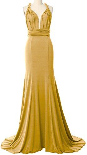 Formal Gold Way Multi Maxi Gown Convertible Evening Wrap Macloth Bridesmaid Dress vtS8E