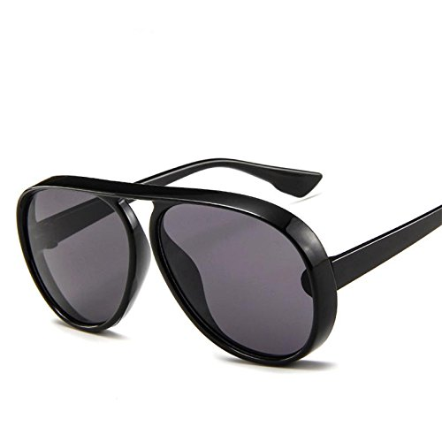 6bb34f7483c LeonLion 2018 Vintage Pilot Sunglasses Men Candy Color Big Frame Thick  BorderSun Glasses For Women PC Classic Outdoor Travel Black Gray   Amazon.in  Clothing ...
