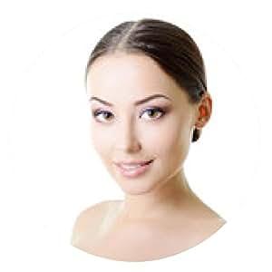 alfombrilla de ratón Retrato de la belleza de la mujer joven con la cara hermosa sana con - ronda - 20cm
