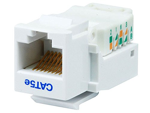 Monoprice Cat5E RJ-45 Toolless Keystone Jack, White ()