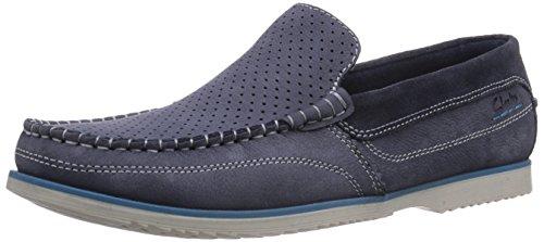Clarks Kendrick Drive - Zapatillas de casa de cuero hombre azul - Blau (Blue Nubuck)