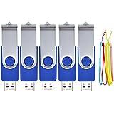 Pendrive - 5 pezzi 8 GB Memorias USB - Chiavetta USB - FEBNISCTE Blu Penne USB 2.0