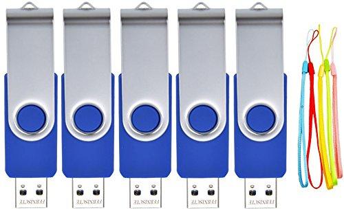 24 opinioni per FEBNISCTE 5 Pezzi 16GB USB 2,0 Unità Memoria Flash Volte di Pollice a Forma