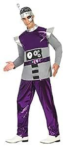 Atosa Disfraz hombre robot del espacio Color violeta M-L 17195