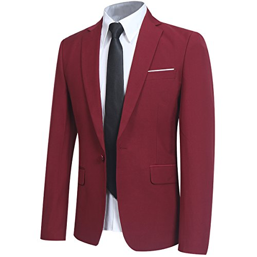 Men's Slim Fit 3 Piece Suit One Button Blazer Tux Vest & Trousers