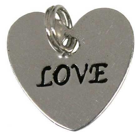 Victoria Lynn VL8144222F Love Heart Charms 20Pc Silver Impritn Metal (Silver Heart Metal)