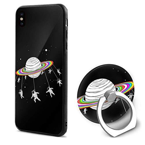 iPhone X Case Satellite Revolving Trojan Horse iPhone X Mobile Phone Shell Ring Bracket