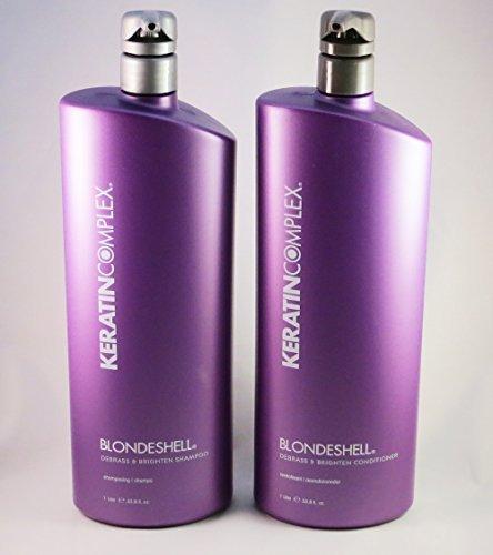 - Keratin Complex Blondeshell Debrass & Brighten Shampoo & Conditioner Liter DUO 33.8 oz