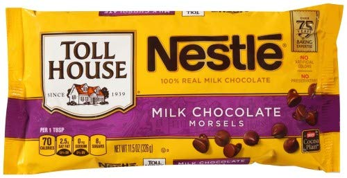 Nestle Toll House Milk Chocolate Morsels (Pack of 2) (Toll House Double Chocolate Chip Cookie Recipe)