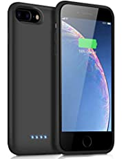iPosible Battery Case for iPhone 6 Plus/6s Plus/7 Plus/8 Plus, [8500mAh] Charging Case Extended Battery for iPhone Rechargeable Battery Power Bank Portable Charger Case [5.5 inch]【2019 Newest Version】