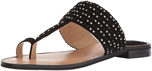 Tahari Women's TA-Gabby Flat Sandal, Black, 7.5 M US