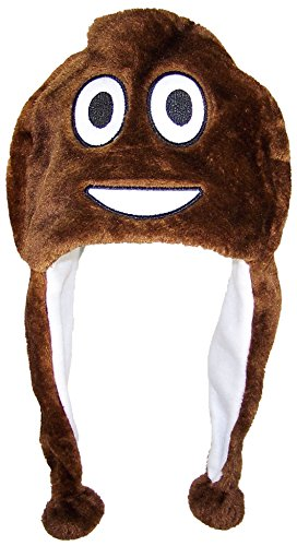 Funny Winter Hat Emoji - Poop
