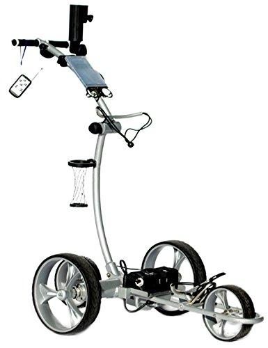 Cart Tek Gri-1500Li (Silver) Remote Power Electric Golf Caddy with Free Accessories