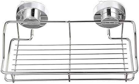 Queenwind のステンレス鋼のシャワーの貯蔵の吸引のコップのキャディー棚の壁によって取付けられる浴室の台所貯蔵の棚