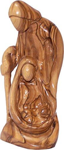 Holy Land Market Olive Wood Holy Family Statue (7.2 Inches) by Holy Land Market (Image #1)