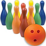 BSN 1246162 Multi-Color Foam Bowling Pin Set with Ball