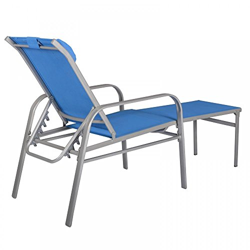 Best Adjustable Pool Chaise Lounge Chair Recliner Outdoor Patio Chair Furnitu