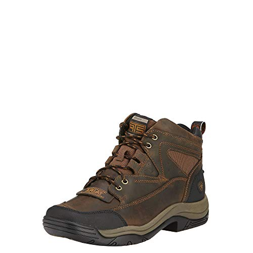 ARIAT Men's Terrain Wide Square Toe Boot,Distressed Brown Full Grain Leather,US