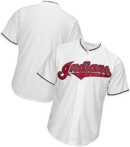 Herren Baseball Trikot Cleveland Indians T-Shirts für Männer, Unisex Training Shirts Mesh Schnelltrocknendes Sweatshirt, Geeignet für Studenten junger Erwachsener