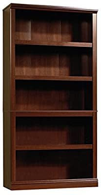 Sauder 412835 Sauder Select 5-Shelf Bookcase, Select Cherry Finish