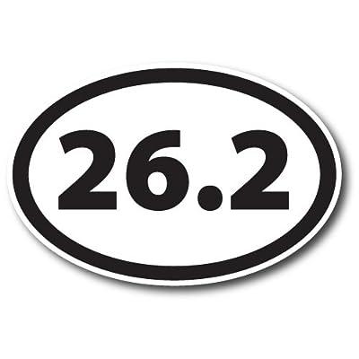 26.2 Marathon Black Oval Car Magnet Decal Heavy Duty Waterproof: Automotive