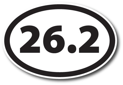 Marathon Runner 26.2 Oval (26.2 Marathon Black Oval Car Magnet Decal Heavy Duty Waterproof)