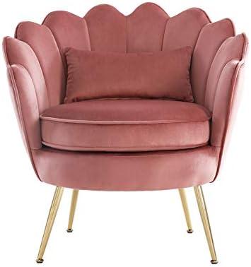 WQSLHX Pink Velvet Chair