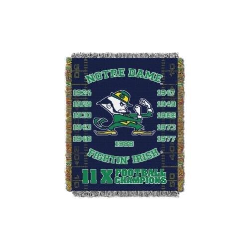 The Northwest Company NCAA Notre Dame Fighting Irish Commemorative Woven Tapestry Throw, 48