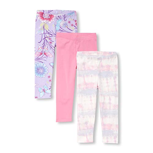 The Children's Place Baby Girls Novelty Printed Leggings Set, Pink Posies, 3T (Best Place For Leggings)
