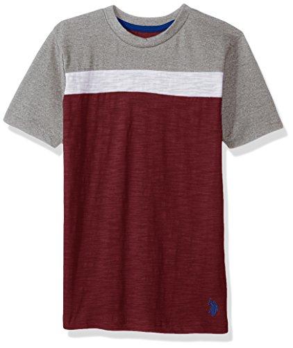 U.S. Polo Assn. Boys Short Sleeve Color Block Crew Neck T-Shirt