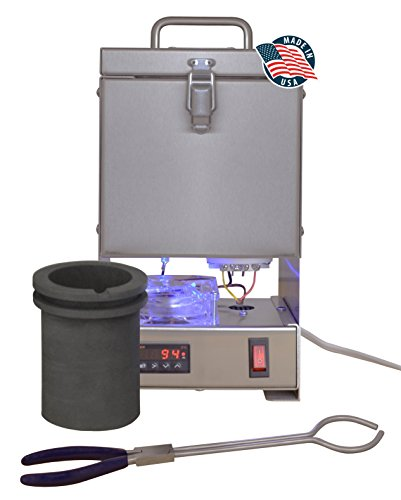 TableTop QuikMelt 100 oz PRO-120 Melting Furnace - Stainless Steel Kiln Jewelry Making Metal Melting Casting Enameling Glass Fusing Precious Metal Clay Kiln