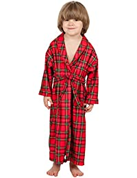 Tom & Jerry Little Boys Christmas Morning Plaid Unisex Shaw Jersey Bath Robe