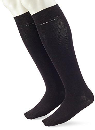 Camano Unisex 2er Pack Kniestrümpfe mit weichem Bund für Erwachsene Socken aus Baumwolle