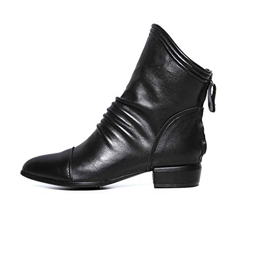 Boots Boots Solid Women Zip Boots Ruffles Boots Colorful Fashion TM Low Winter Short Shoes Autumn Heel Women Square Middle tpZgpR