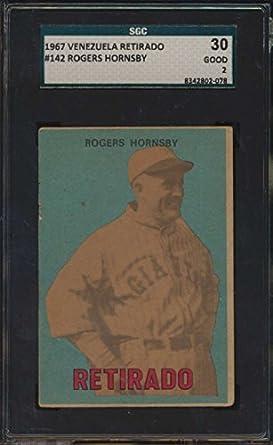 Amazon.com: 1967 Topps Venezuelan #142 Rogers Hornsby HOF ...