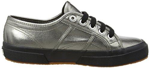 Superga para de deporte Grey Gris de Zapatillas Black mujer satén Grey rX85qrg