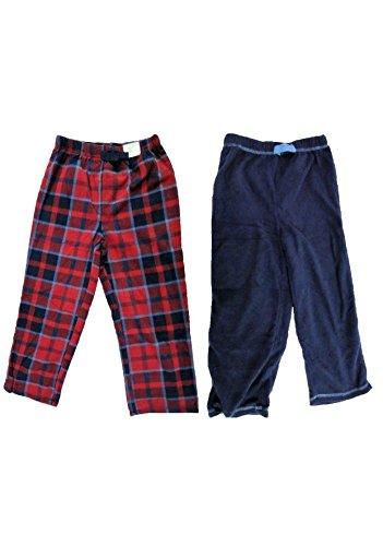 St. Eve Boys' Sleep Pant 2-pack - Blue/BlueRed Plaid (7) (Sleep Pant Fleece Boys)