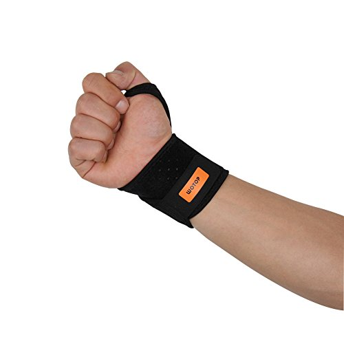WOTOP Wrist Brace Wraps Carpal Tunnel Tendonitis Arthritis Pain Aid, Sports Wrist Support Protector Stabilizer Strap Band Compression Fits Right&Left Hand For Women and Men – DiZiSports Store