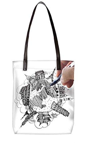 Snoogg Strandtasche, mehrfarbig (mehrfarbig) - LTR-BL-4610-ToteBag