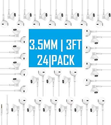 Everyday Wholesale Earbuds Bundle Bulk in-Ear Earphones 24 Pack