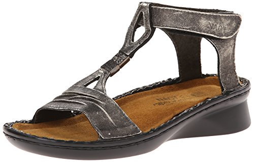 Sandal Madras Leather Naot Metal Black Cymbal Footwear Women's q8IwvFY