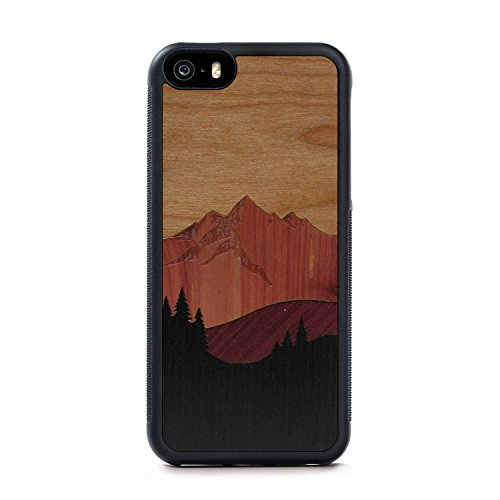 carved-mount-bierstadt-inlay-iphone-se-traveler-wood-case-black-protective-bumper-with-real-all-wood
