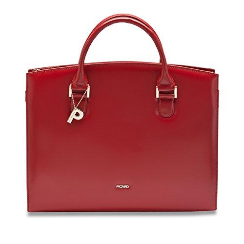 Hombro Bolsillo Damas Shopper Berlin Bolso 4229 De Picard Cuero Rojo xYOqd5Yw