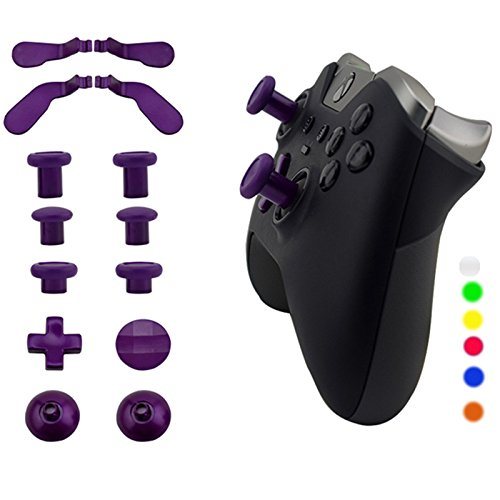 WPS Metal Alloy Bumper Trigger Button Set for XBOX One Elite Controller with Open Tools ( T6 T8 ) - Purple by WPS