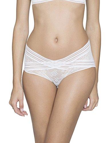 Maison Lejaby 16464-801 Women's Miss Lejaby Lily White Knickers Full Panty XLGE
